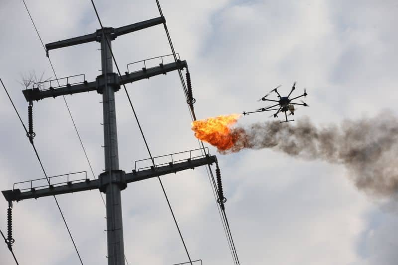 Drone Riot Flamethrower Drone