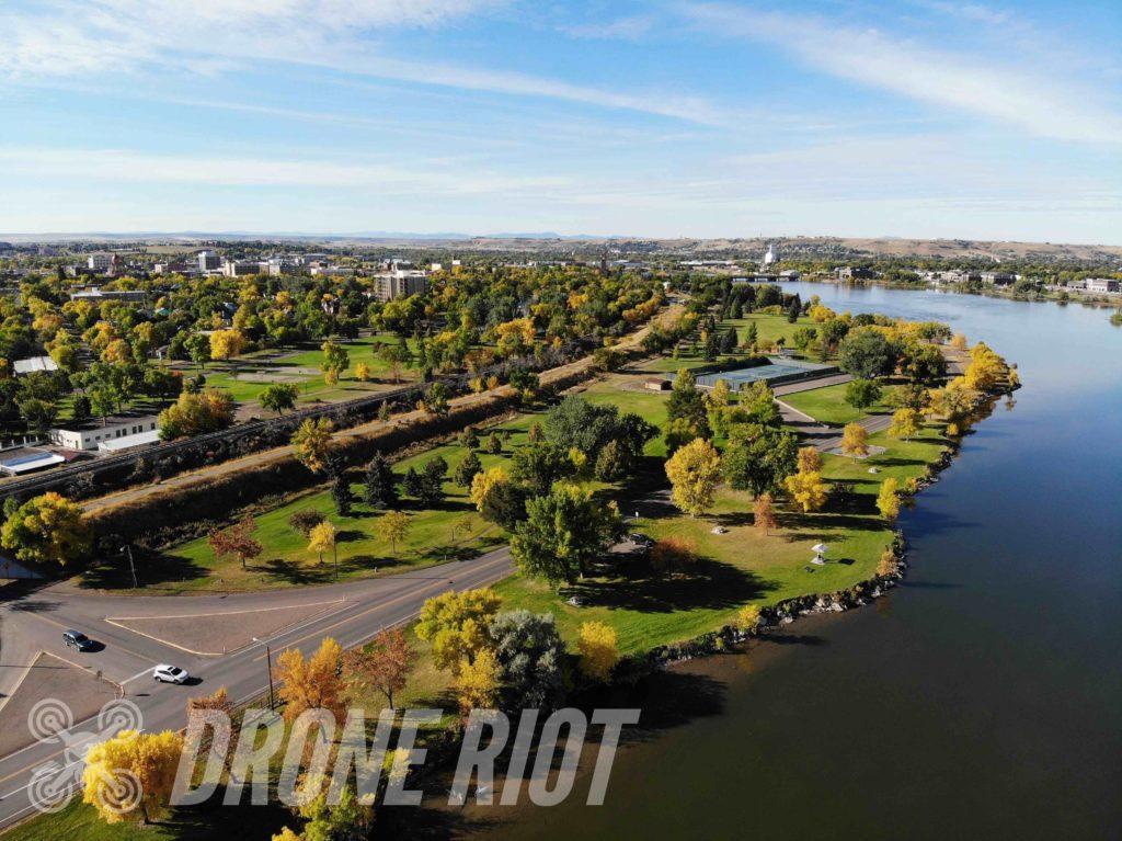 Mavic Drone Footage Lake and Coast