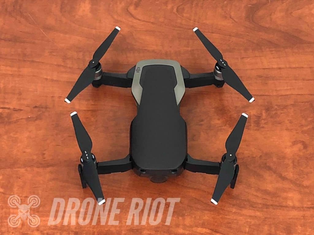 Drone folded out arms